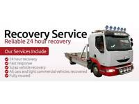 Quick cheap reliable vehicle recovery 24/7 breakdown accident towing