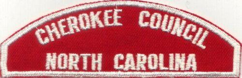 BOY SCOUT RWS CHEROKEE COUNCIL / NORTH CAROLINA RED & WHITE FULL STRIP