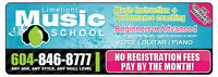 SUMMER SINGING LESSONS / LIMELIGHT MUSIC SCHOOL / CHILLIWACK