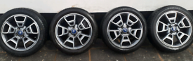 Set of 4 ford ecosport alloys all with new 205 50 R17 tyres