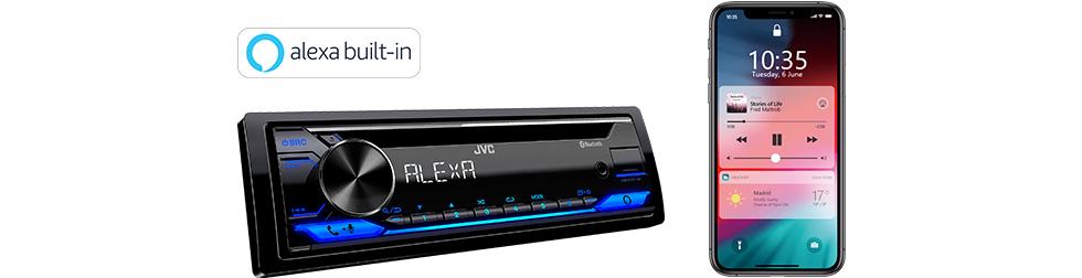 kd t910bts cd receiver w bluetooth alexa