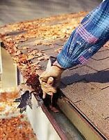 Fall eavestrough cleaning and exterior maintenance