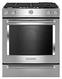 146- NEUF - NEW Cuisinière 30'' 5 Éléments Convection a Gas  Four KITCHEN AID 30'' 5 Burners Gas Convection  Oven Stove