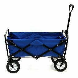 Mac Sports Collapsible Folding Outdoor Utility Wagon Blue