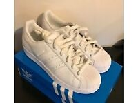 Adidas 'Superstar' trainers. U.K. Size 6.
