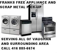 free appliance and srape metal pick up