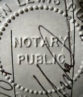 Notary Public & Commissioner for Taking Affidavits & Oaths