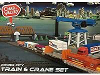 Chad Valley train and crane set
