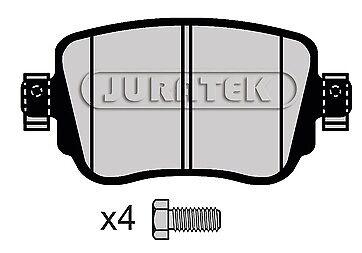 QUALITY JURATEK REAR BRAKE PADS JCP4485