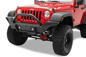 Tubular Steel Grille Guard Black-07-17 Wrangler (BST44915-01)