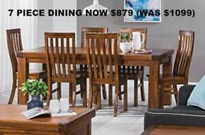 New 7 Piece Acacia Dining Suite NOW 20% OFF JUST $879 Bayswater Bayswater Area Preview