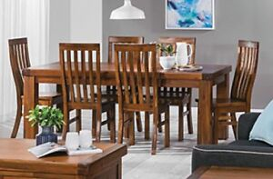 FREE PERTH METRO DELIVERY**7 PIECE SOLID ACACIA DINING SUITE Bayswater Bayswater Area Preview