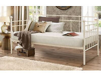 Single bed with mattress and spare underbed