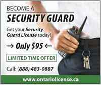Ontario Security Guard License and Employment $95