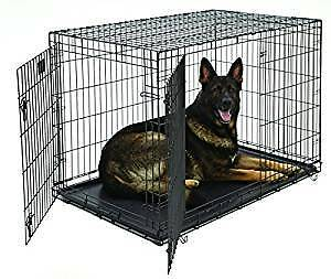Metal collapsible pet cage, kennel with tray like new