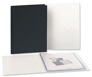 - DISPLAY BOOK POLYPROPYLENE COVER  20 Pockets Black,Blue,Red