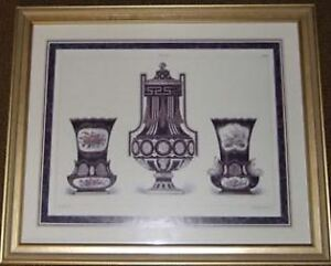 "2 NUMBERED PRINTS FEATURING ""SEVRES"" PORCELAIN AND POTTERY"