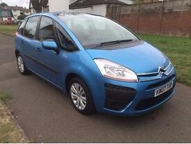 Citroen C4 Picasso 1.6 HDi SX 5dr, p/x welcome, CAMBELT CHANGED/ FREE WARRANTY