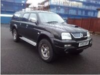 Mitsubishi L200 Pick up truck, 4 wheel drive, low mileage, good condition, no cab on back