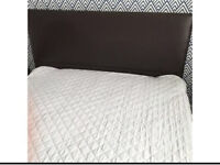 King size faux leather bed frame and mattress
