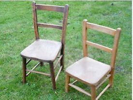 Vintage Children's School chairs (2)