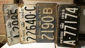 License Plates, mostly Ontario from 1929 t0 1980 100's in total Belleville Belleville Area image 7