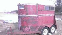 Bumper pull 2 horse trailer with electric brakes