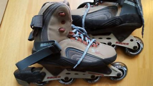 Brand new Bauer x55wc roller blades for women used only once!