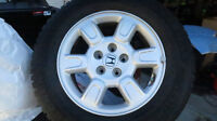 Honda Ridgeline wheels and General Altimax Arctic Winter Tires