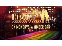 KIZOMBA DANCE LESSONS ON MONDAY 22ND OF AUGUST @ AMBER BAR