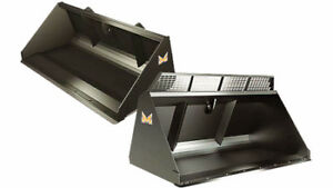 SKIDSTEER BUCKETS, ALL SIZES, CANADIAN BUILT