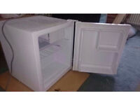 Small counter tabletop fridge with freezer compartment