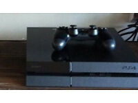 PS4 500GB Console & Controller & all cables with 1 game in perfect working order