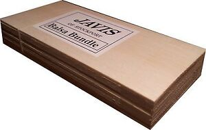 Balsa Bundle: 9 piece Balsa Wood bundle for modelling/wargaming 9x4