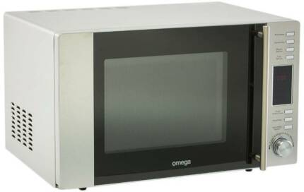 Brand New Stainless Steel Omega 30L Microwave Oven with Grill