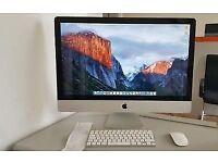 as new 27 inch apple iMac 4gb ram 1tb hdd