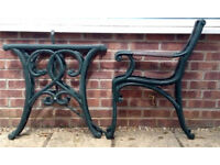 Cast iron garden table/bench/chair furniture sets