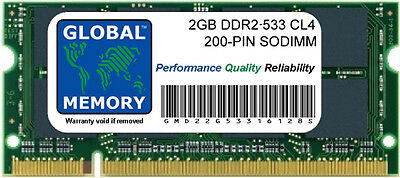 2GB DDR2 533MHz PC2-4200 200-PIN Memoria Sodimm RAM Para Portátiles/Netbooks