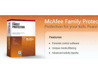 bargain pc software mcafee family protection this is new boxed rrp £20 it is a card