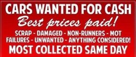 ALL SCRAP CARS WANTED TOP PRICES PAID