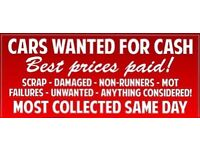 Scrap cars collected MOST AREAS COVERED