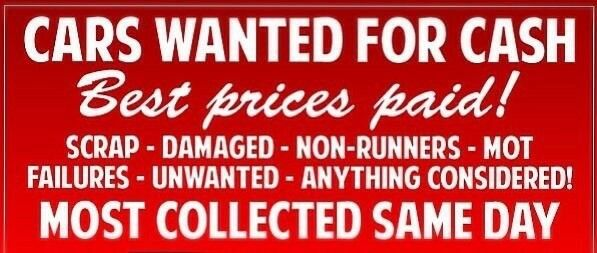 ** SCRAP CARS WANTED SUSSEX AND SURREY £60