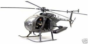 BBI US MH-6 Little Bird Night Stalker Helicopter 1/18