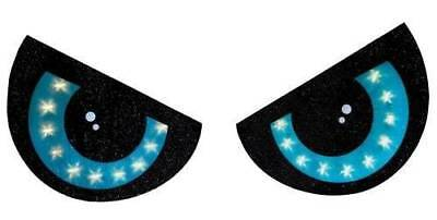 2 PIECE LIGHTED BLUE EYES HALLOWEEN WINDOW SILHOUETTE DECORATION SET PIECE - Halloween Window Decorations Eyes