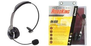 Roadking RK400 Noise Cancelling Bluetooth Headset Truckers, Wireless NEW!!