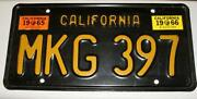 1965 California License Plates