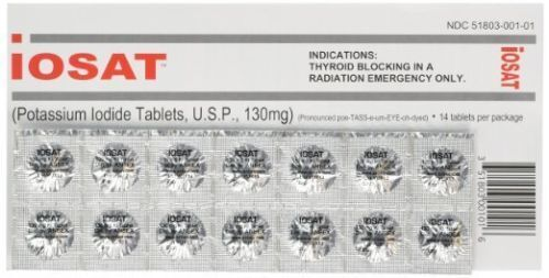 5 PACK iOSAT Potassium Iodide KI Tablets 130 mg 14 Radiation Blocking TABS