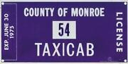 Taxi License Plate
