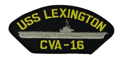 USS LEXINGTON CVA-16 PATCH USN NAVY SHIP ESSEX CLASS AIRCRAFT CARRIER BLUE GHOST