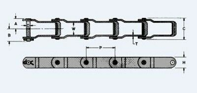 Manure Spreader Chain 667h 10ft Pintle Chain New From Factory 2.313 Pitch
